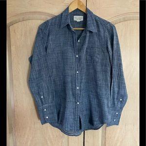 Nili Lotan Blue Chambray Button Down Shirt